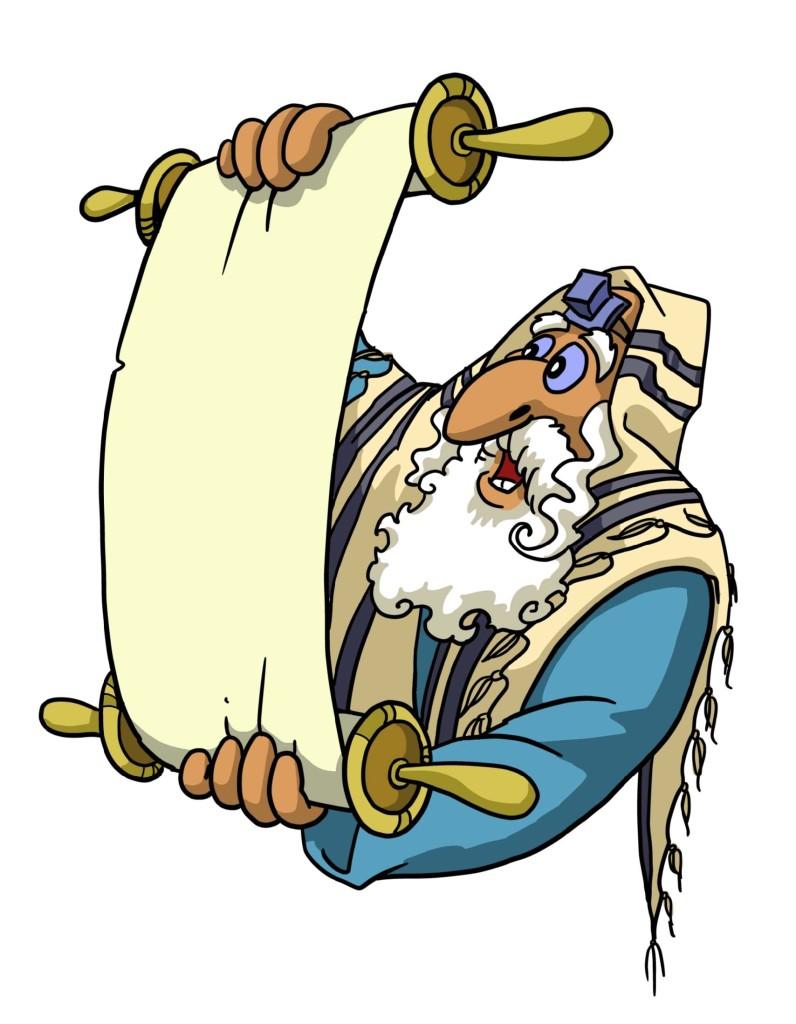 Rabbi reading the scripture